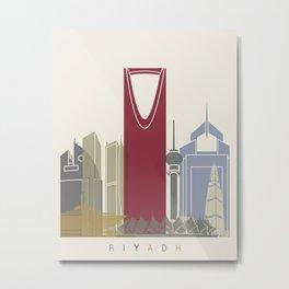 Riyadh skyline poster Metal Print