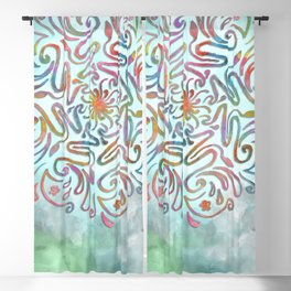 Floral Mandala Blackout Curtain