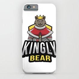 Kingly Bear Esport Logo Template iPhone Case