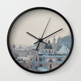 winter blues ... Wall Clock