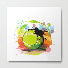 Tennis Ball and Paint Metal Print