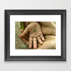 My heart in your hand Framed Art Print