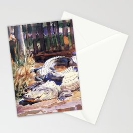 John Singer Sargent Muddy Alligators 1917 Stationery Cards