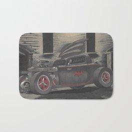Hot Rod Batmobile  Bath Mat
