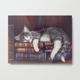 Keeper of the Books Metal Print