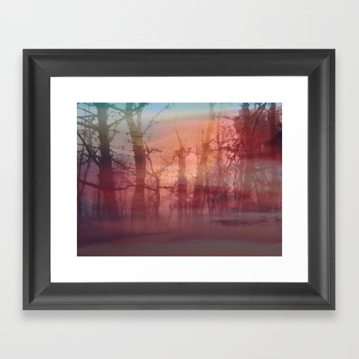 twilight forest Framed Art Print