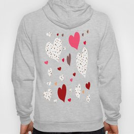 Flying Hearts pink burgundy Hoody