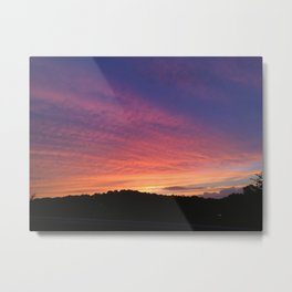 NY Sunset Sky Metal Print
