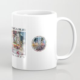 Times Square NYC (poster edition) Coffee Mug