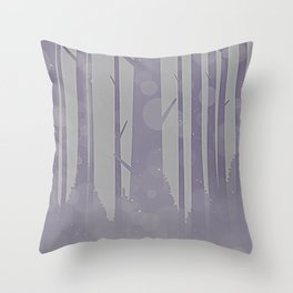 Home - Minimal Forest Landscape Grey Lavender Throw Pillow