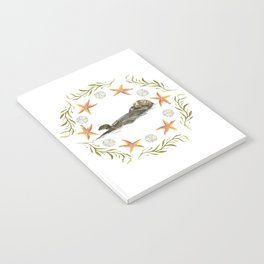 Sea Otter Mandala 1 - Watercolor Notebook