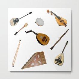 Traditional Music Metal Print