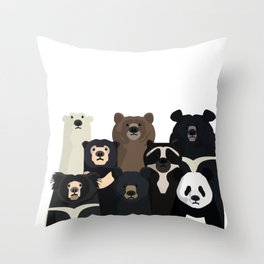Bear family portrait Throw Pillow