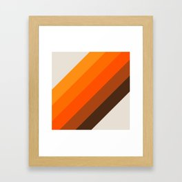 Simple Stripes - Golden Framed Art Print