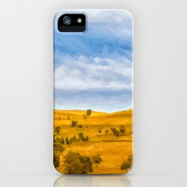 Blue and yellow iPhone Case