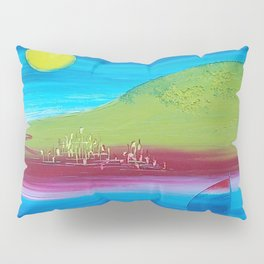 Color the See-mountain landscape Pillow Sham