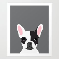 Parker - French Bulldog animal art modern colors for dog people Art Print