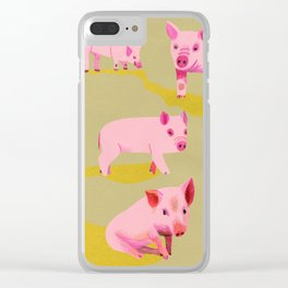 Pigs Clear iPhone Case