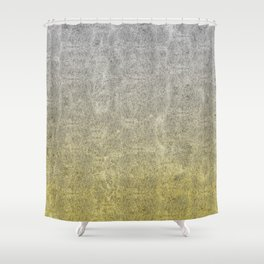 Silver and Gold Glitter Gradient Shower Curtain
