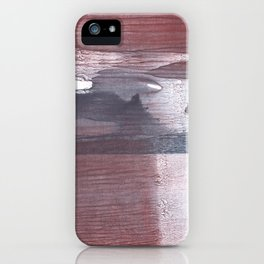 Gray claret wash drawing design iPhone Case