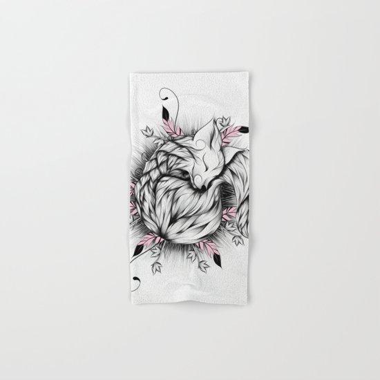 Little Fox Pink Version  Hand & Bath Towel
