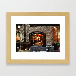 Restaurant Window Framed Art Print