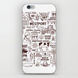 Westport Massachusetts Print iPhone Skin