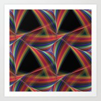 triangles Art Prints featuring Triangles by David Zydd