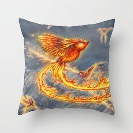 Hummingbird Phoenix Throw Pillow