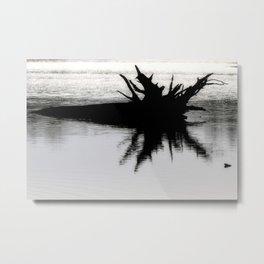 Brazos Bend State Park Tree Stump In Wetland Lake Metal Print