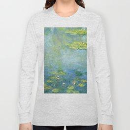 1906-Claude Monet-Waterlilies-73 x 92 Long Sleeve T-shirt