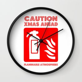 caution xmas ahead! Wall Clock