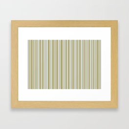 Lines 32 Gold on Platinum Framed Art Print