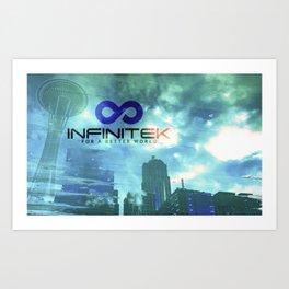 Space Needle - Infinitek Headquarters Seattle Art Print