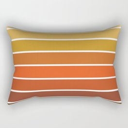 70s Stripes - 70s, retro, retro stripes, ombre, rust, orange, brown,  yellow Rectangular Pillow