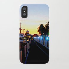 Night falls over lake Entrance iPhone X Slim Case