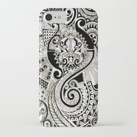 maori iPhone & iPod Cases featuring Maori tribal design by Noah's ART