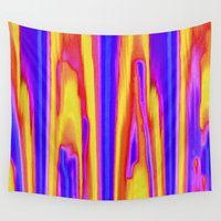 tie dye Wall Tapestries featuring Tie Dye Sky by Vikki Salmela