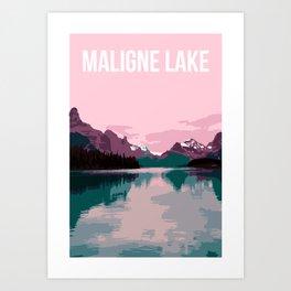 Maligne Lake - Cananda Art Print