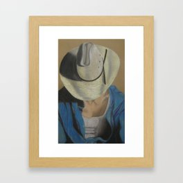 Bobby The Cowboy Framed Art Print