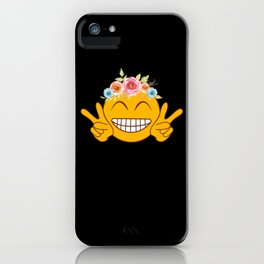 Smile Emoticon Happy Face Peace Love Tee iPhone Case