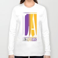 los angeles Long Sleeve T-shirts featuring LOS ANGELES  by Robleedesigns
