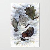 ship Canvas Prints featuring Ship by Andreas Derebucha