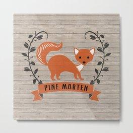 Pine Marten Metal Print
