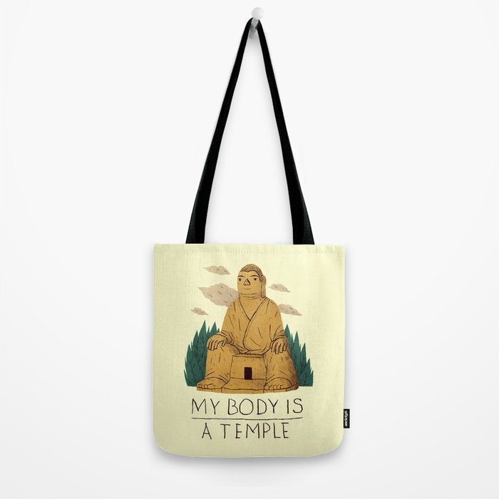 my body is a temple Tote Bag