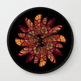 Autumn Wreath Wall Clock