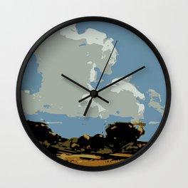 Sky Art, Landscape art print Wall Clock