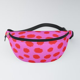 Keep me Wild Animal Print - Pink with Red Spots Fanny Pack