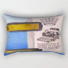 Vintage Royal Typewriter Mixed Media Rectangular Pillow