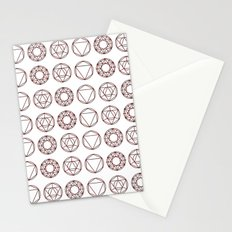 Geometry Shapes Stationery Cards